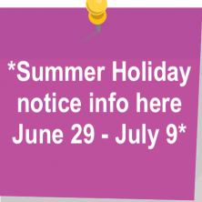 Summerholidaynotice