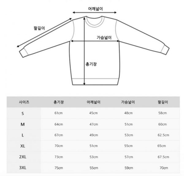 Clothing Size Charts Koreanbuddy